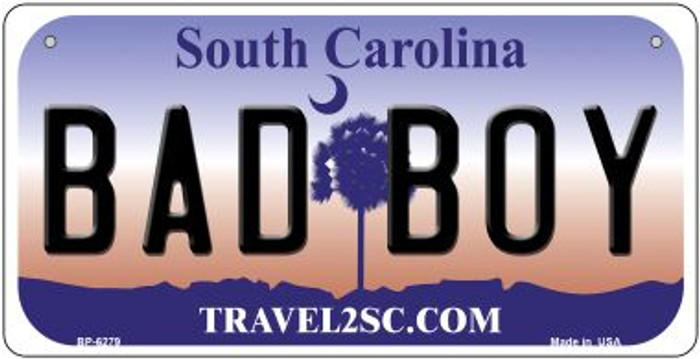 Bad Boy South Carolina Wholesale Novelty Metal Bicycle Plate BP-6279