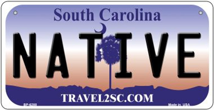 Native South Carolina Wholesale Novelty Metal Bicycle Plate BP-6280