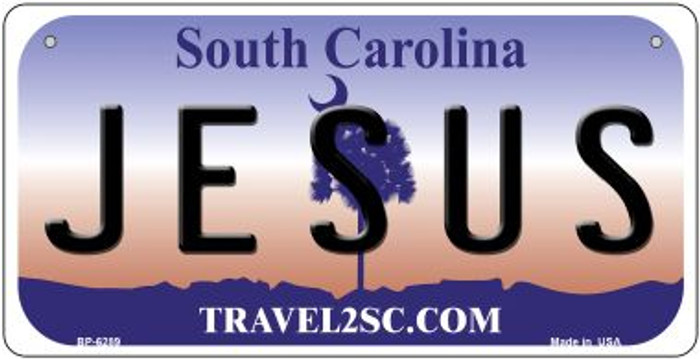 Jesus South Carolina Wholesale Novelty Metal Bicycle Plate BP-6289