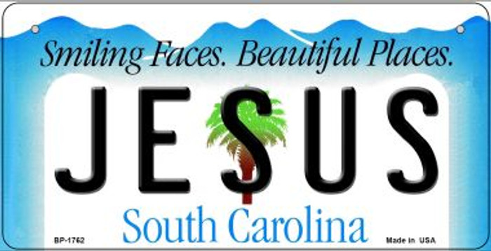 Jesus South Carolina Wholesale Novelty Metal Bicycle Plate BP-1762