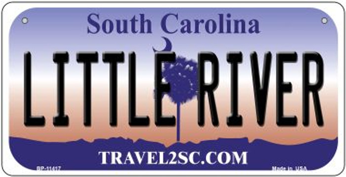 Little River South Carolina Wholesale Novelty Metal Bicycle Plate BP-11417
