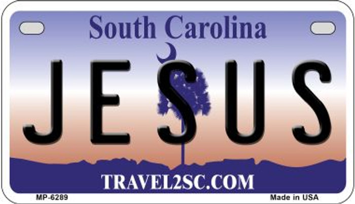 Jesus South Carolina Wholesale Novelty Metal Motorcycle Plate MP-6289