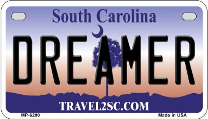 Dreamer South Carolina Wholesale Novelty Metal Motorcycle Plate MP-6290