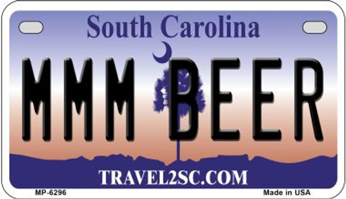 MMM Beer South Carolina Wholesale Novelty Metal Motorcycle Plate MP-6296