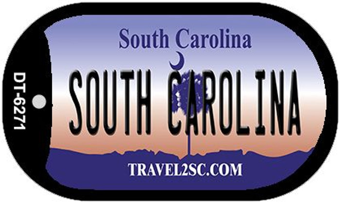 South Carolina Wholesale Novelty Metal Dog Tag Necklace DT-6271