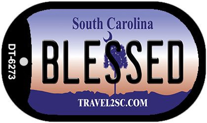 Blessed South Carolina Wholesale Novelty Metal Dog Tag Necklace DT-6273