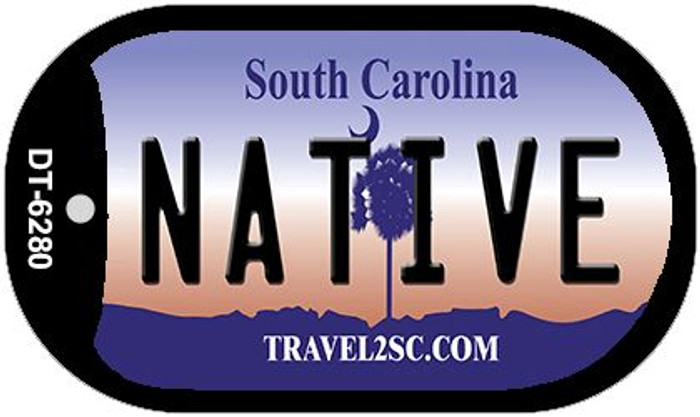 Native South Carolina Wholesale Novelty Metal Dog Tag Necklace DT-6280