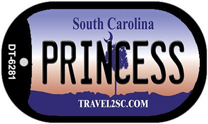 Princess South Carolina Wholesale Novelty Metal Dog Tag Necklace DT-6281