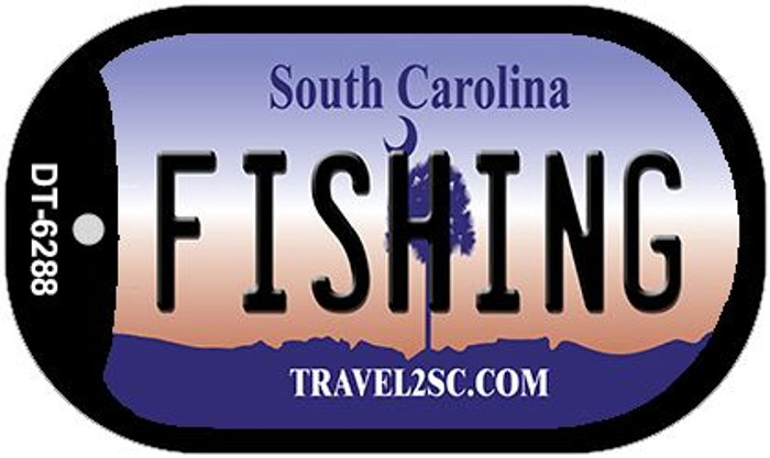 Fishing South Carolina Wholesale Novelty Metal Dog Tag Necklace DT-6288