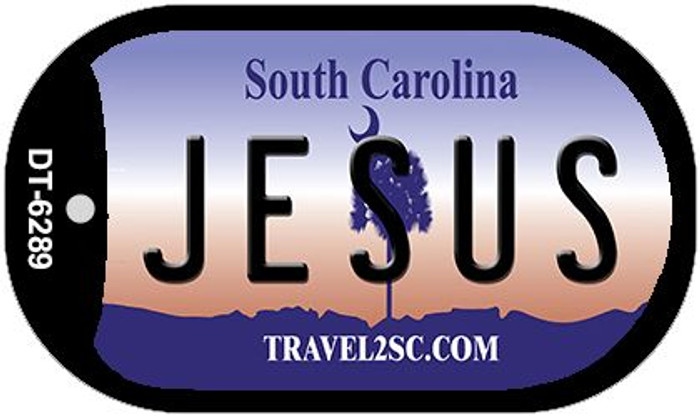 Jesus South Carolina Wholesale Novelty Metal Dog Tag Necklace DT-6289