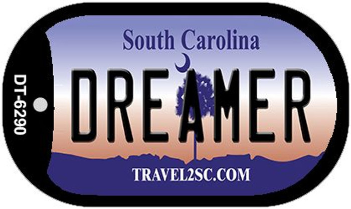 Dreamer South Carolina Wholesale Novelty Metal Dog Tag Necklace DT-6290