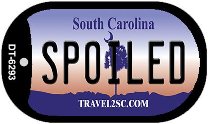 Spoiled South Carolina Wholesale Novelty Metal Dog Tag Necklace DT-6293