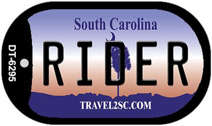 Rider South Carolina Wholesale Novelty Metal Dog Tag Necklace DT-6295