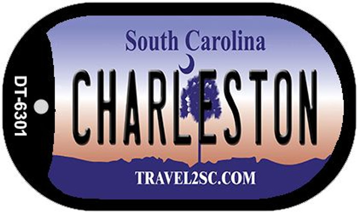 Charleston South Carolina Wholesale Novelty Metal Dog Tag Necklace DT-6301
