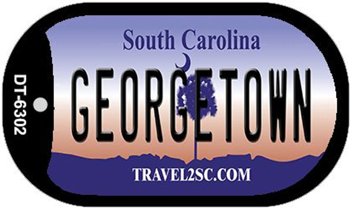 Georgetown South Carolina Wholesale Novelty Metal Dog Tag Necklace DT-6302