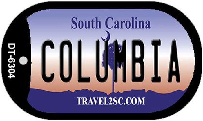 Columbia South Carolina Wholesale Novelty Metal Dog Tag Necklace DT-6304