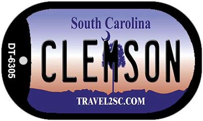 Clemson South Carolina Wholesale Novelty Metal Dog Tag Necklace DT-6305