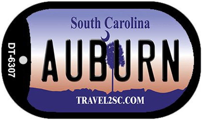 Auburn South Carolina Wholesale Novelty Metal Dog Tag Necklace DT-6307