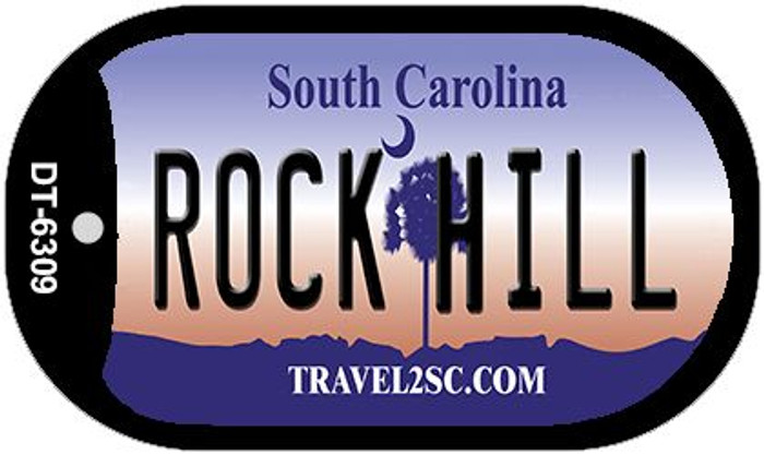 Rock Hill South Carolina Wholesale Novelty Metal Dog Tag Necklace DT-6309