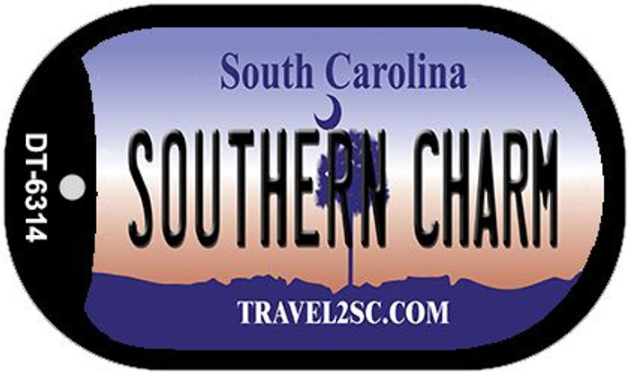Southern Charm South Carolina Wholesale Novelty Metal Dog Tag Necklace DT-6314