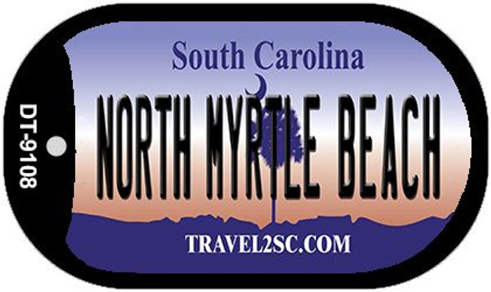 North Myrtle Beach South Carolina Wholesale Novelty Metal Dog Tag Necklace DT-9108