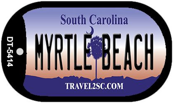 Myrtle Beach South Carolina Wholesale Novelty Metal Dog Tag Necklace DT-5414