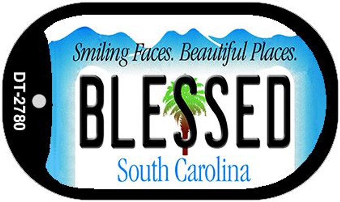 Blessed South Carolina Wholesale Novelty Metal Dog Tag Necklace DT-2780