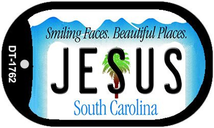 Jesus South Carolina Wholesale Novelty Metal Dog Tag Necklace DT-1762