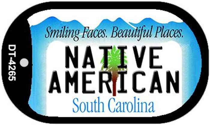 Native American South Carolina Wholesale Novelty Metal Dog Tag Necklace DT-4265