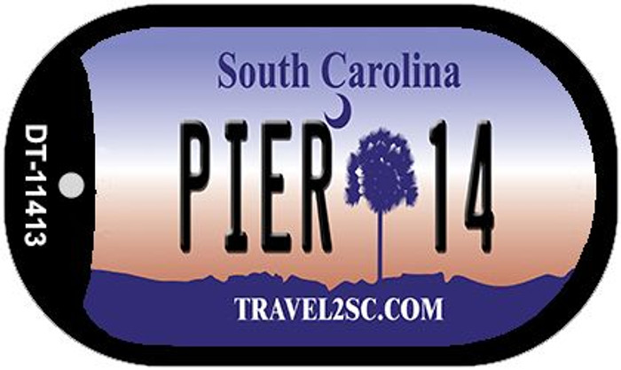 Pier 14 South Carolina Wholesale Novelty Metal Dog Tag Necklace DT-11413
