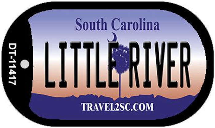 Little River South Carolina Wholesale Novelty Metal Dog Tag Necklace DT-11417
