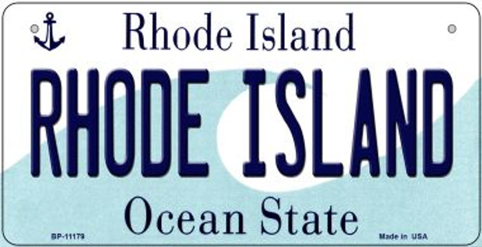 Rhode Island Wholesale Novelty Metal Bicycle Plate BP-11179