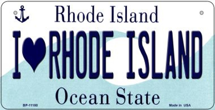 I Love Rhode Island Wholesale Novelty Metal Bicycle Plate BP-11180