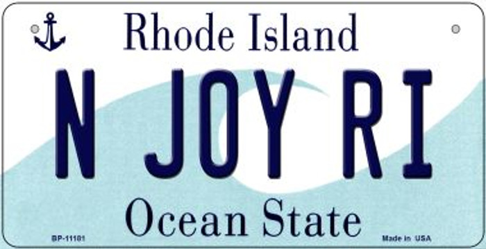 N Joy RI Rhode Island Wholesale Novelty Metal Bicycle Plate BP-11181