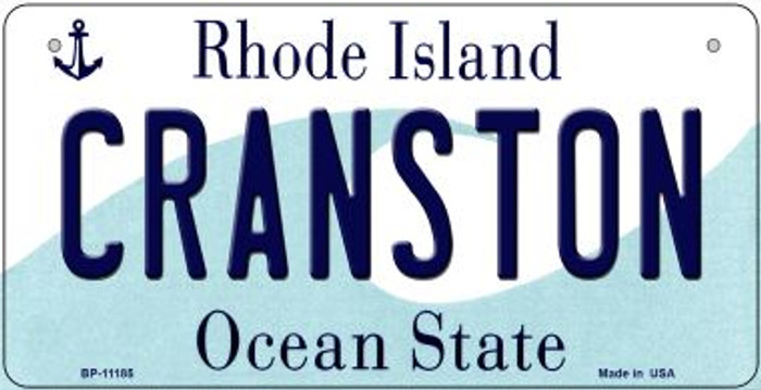 Cranston Rhode Island Wholesale Novelty Metal Bicycle Plate BP-11185