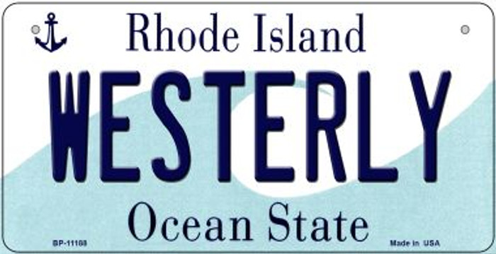 Westerly Rhode Island Wholesale Novelty Metal Bicycle Plate BP-11188
