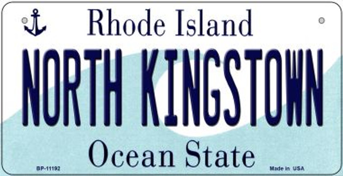 North Kingstown Rhode Island Wholesale Novelty Metal Bicycle Plate BP-11192