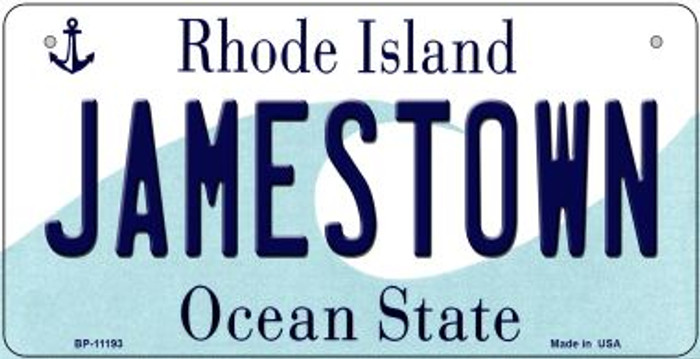 Jamestown Rhode Island Wholesale Novelty Metal Bicycle Plate BP-11193