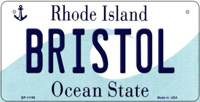 Bristol Rhode Island Wholesale Novelty Metal Bicycle Plate BP-11195