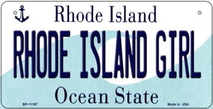 Rhode Island Girl Wholesale Novelty Metal Bicycle Plate BP-11197