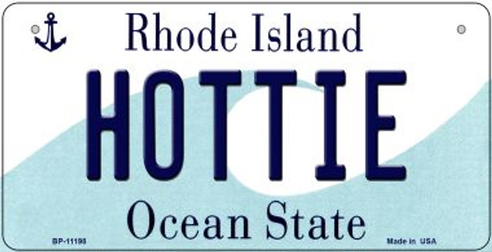 Hottie Rhode Island Wholesale Novelty Metal Bicycle Plate BP-11198