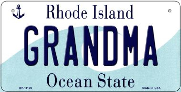 Grandma Rhode Island Wholesale Novelty Metal Bicycle Plate BP-11199