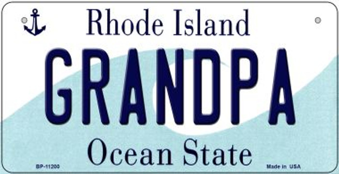 Grandpa Rhode Island Wholesale Novelty Metal Bicycle Plate BP-11200