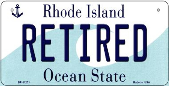 Retired Rhode Island Wholesale Novelty Metal Bicycle Plate BP-11201