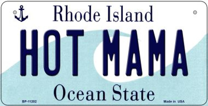 Hot Mama Rhode Island Wholesale Novelty Metal Bicycle Plate BP-11202
