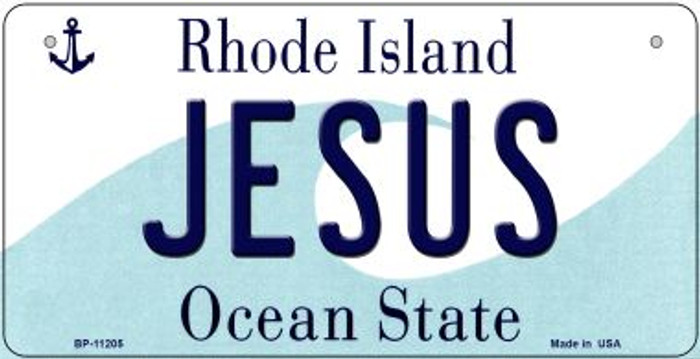 Jesus Rhode Island Wholesale Novelty Metal Bicycle Plate BP-11205