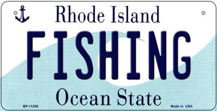 Fishing Rhode Island Wholesale Novelty Metal Bicycle Plate BP-11206