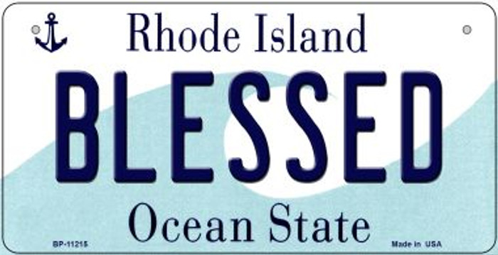 Blessed Rhode Island Wholesale Novelty Metal Bicycle Plate BP-11215