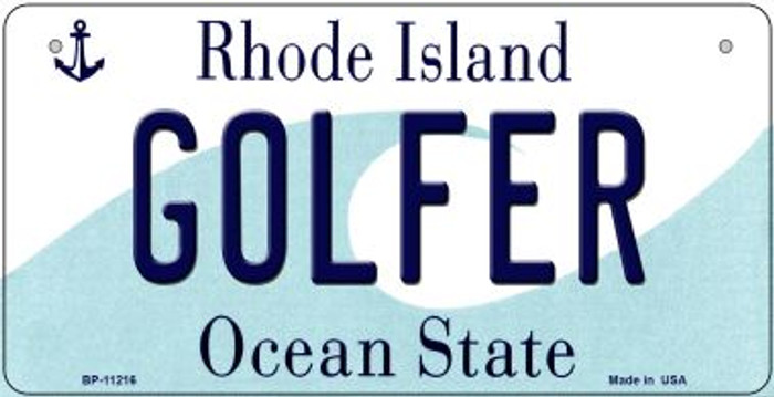 Golfer Rhode Island Wholesale Novelty Metal Bicycle Plate BP-11216