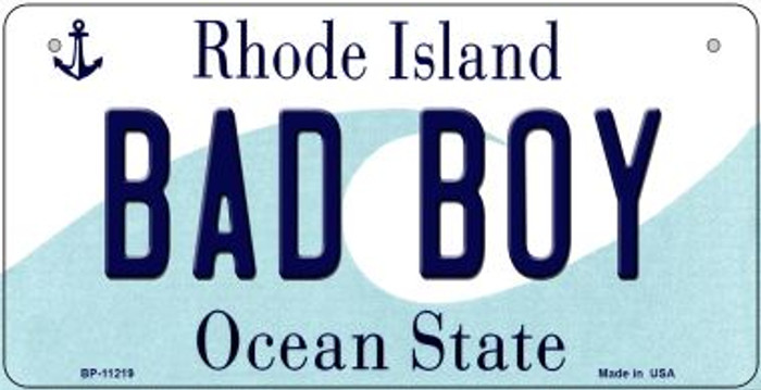 Bad Boy Rhode Island Wholesale Novelty Metal Bicycle Plate BP-11219